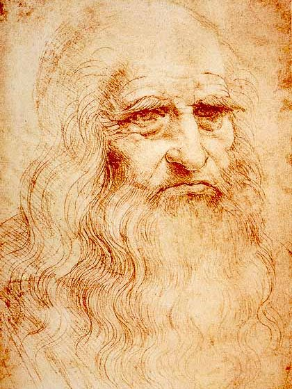 Portrait of a Man in Red Chalk in the Biblioteca Reale, Turin, is widely, though not universally, accepted as a self portrait of Leonardo da Vinci (1510)