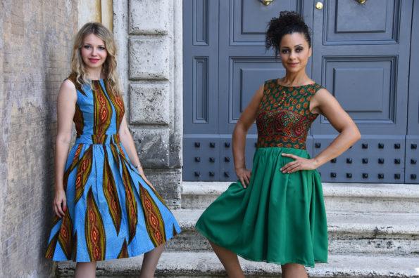 Astrid Fataki interviewed by Joanna Longawa, Rome, June 2016 @ Dresses by Madame Astrid Couture @ Ph Massimo Insabato