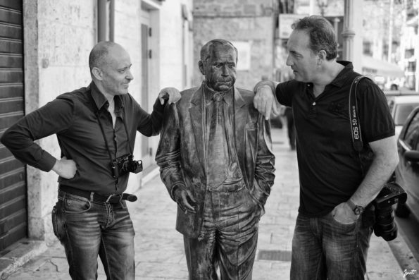 RS with Tony Gentile photographer in Racalmuto, Sicily, 2015