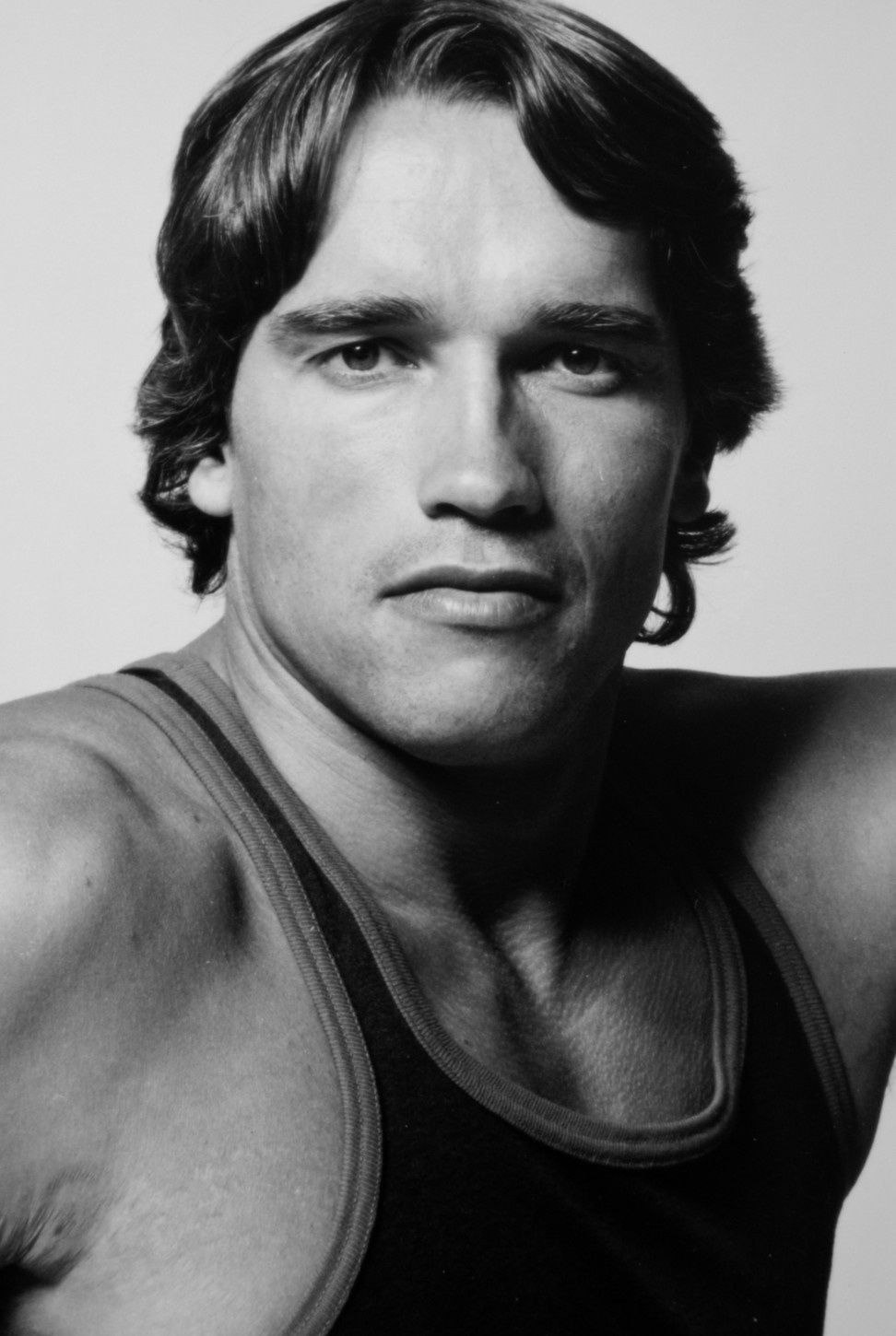 Arnold Schwarzenegger in one of his first films